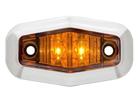 Redline Amber Mini LED Clearance/Marker Light w/Chrome Base LT02-200
