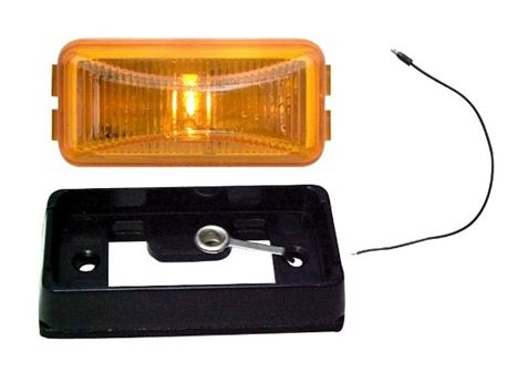 Redline Amber Mini Thinline LED Clearance/Marker Light w/Base LT02-220