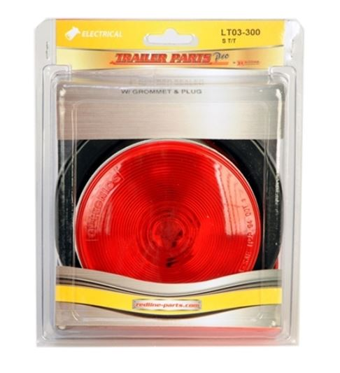 Redline 4in Round Stop/Turn/Tail Light w/Grommet & Pigtail LT03-300