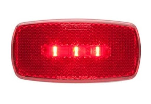 Redline Rectangular Oblong Red Clearance/Marker RV LED Light w/Black Base LT52-040