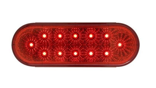 Optronics Miro-Flex Red 6in Oval LED S/T/T Light STL-22RB