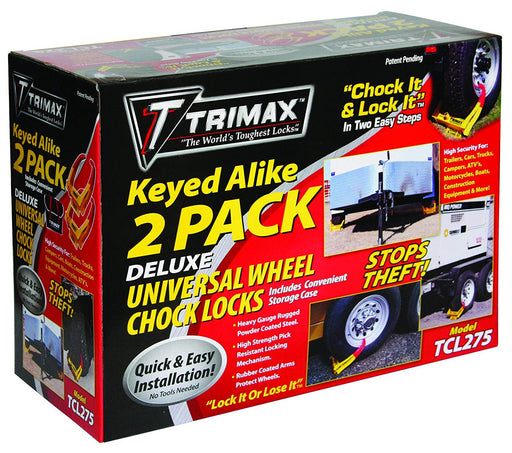 Trimax TCL275 Wheel Chock Lock 2-Pack