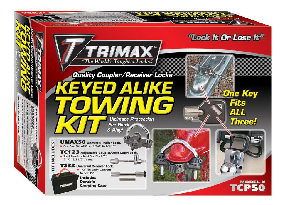 Trimax TCP50 Trailer Lock Combo Pack (Keyed Alike)