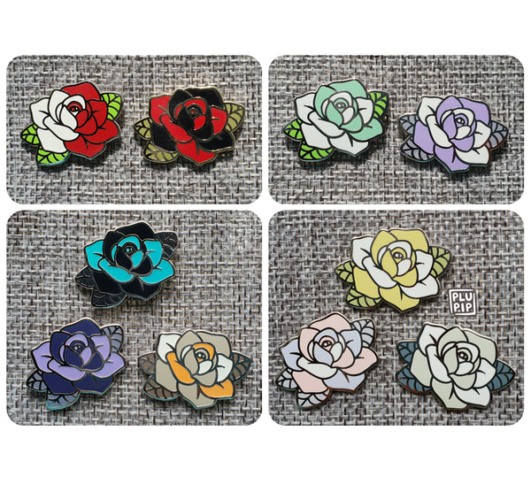[ON-HAND] Assorted Rose Pins