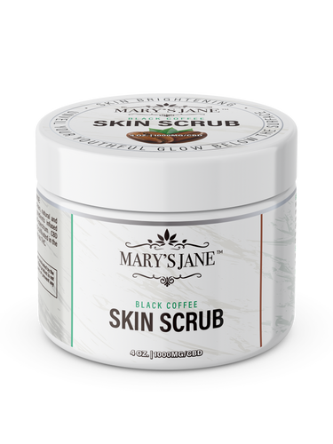 Black Coffee Skin Scrub - CBD