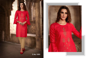 Festival Cotton Kurtis - Red