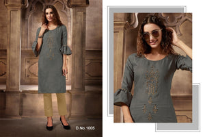 Festival Cotton Kurtis - Grey