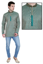Load image into Gallery viewer, Men's Embroidered Kurtas - Teal