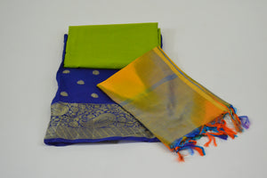 Gangour Collection Everyday Punjabi - Blue and Lime
