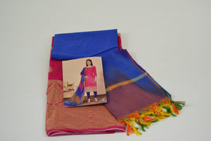 Gangour Collection Everyday Punjabi - Pink and Blue