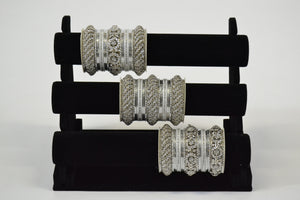 Fancy Metal Bangles - Gold/ Silver