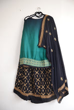 Load image into Gallery viewer, Sharara Suit Lengha - Turquoise/ Navy