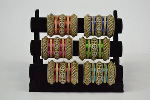 Fancy Metal Bangles - Colors