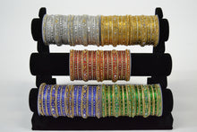 Load image into Gallery viewer, Stone Work Bangles - Size 2.8