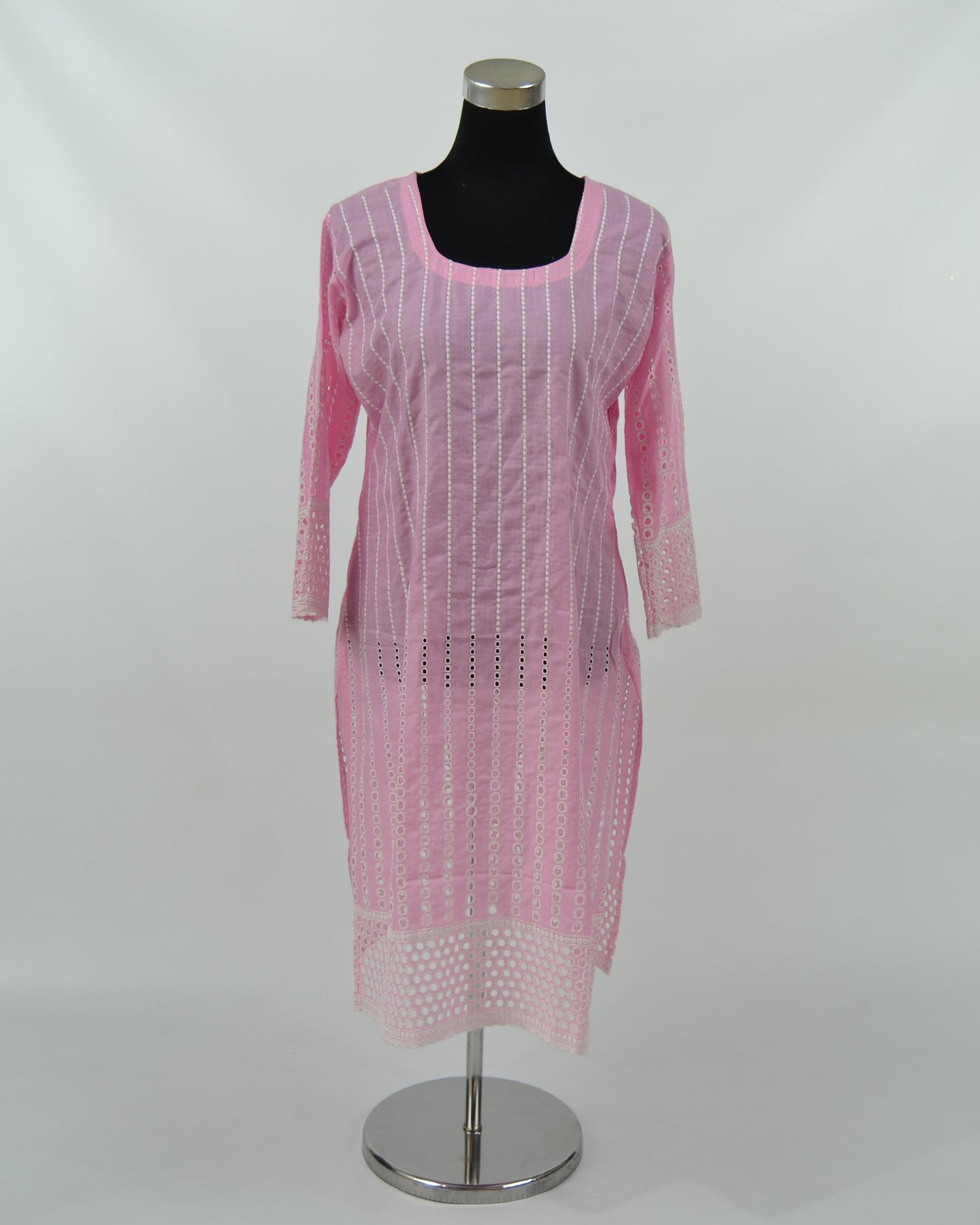 Ladies Cotton Kurtis - Pink