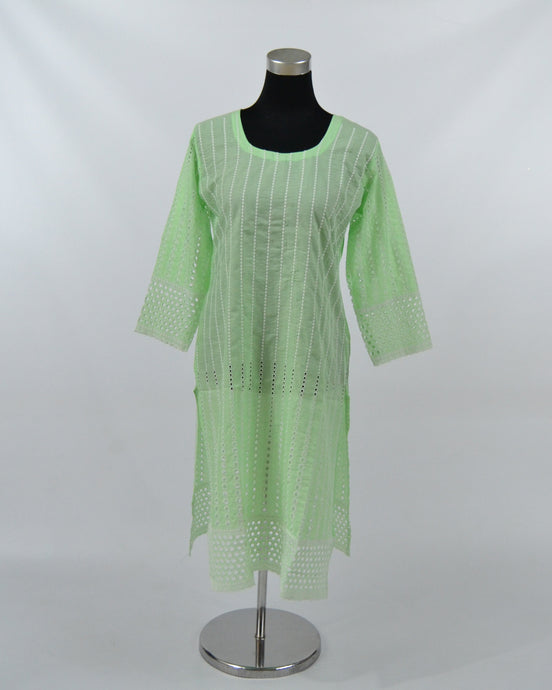 Ladies Cotton Kurtis - Lime Green