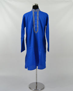Mens Cotton Kurta & Pants Sets - Blue