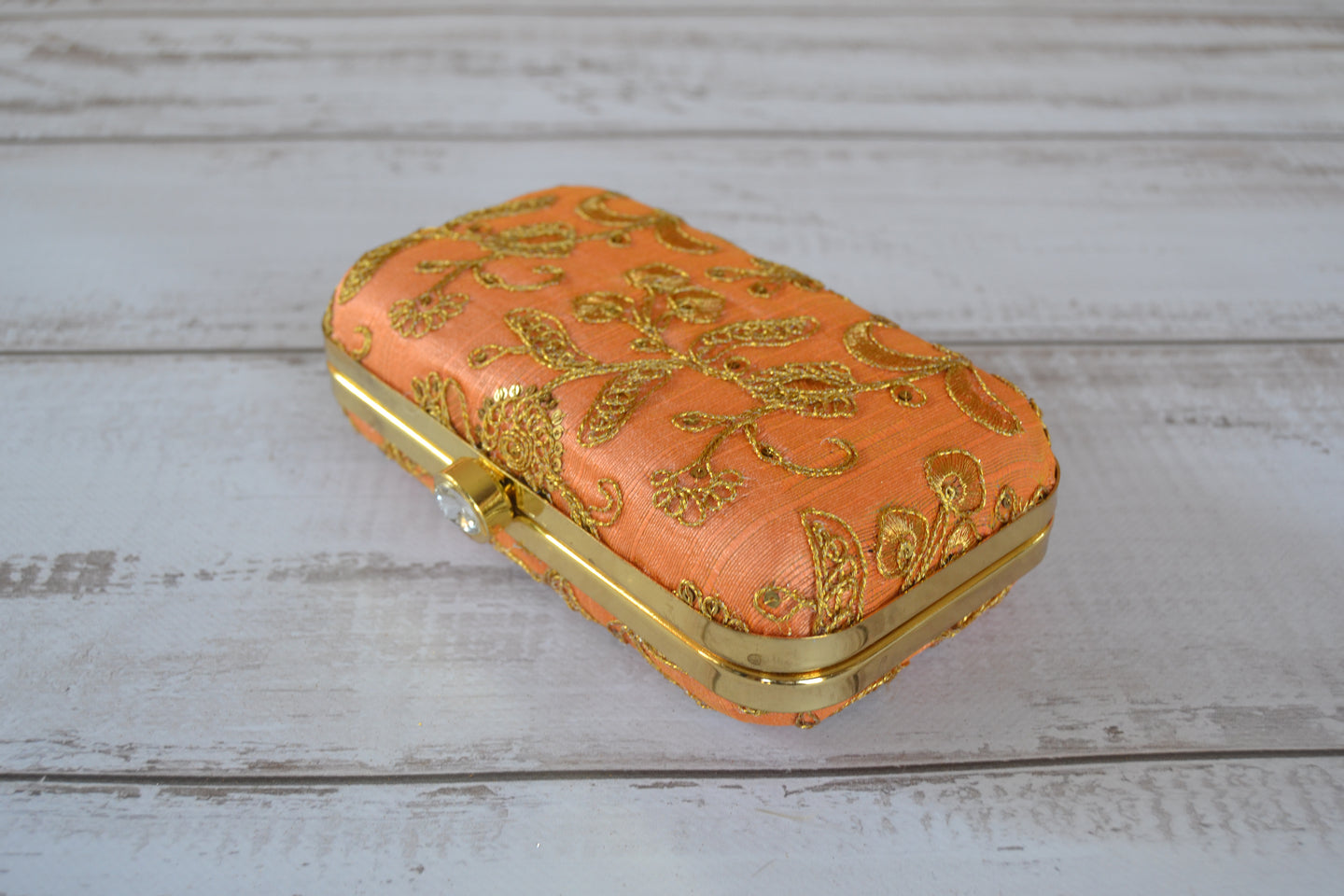 Pill Box Clutch Bag - Orange