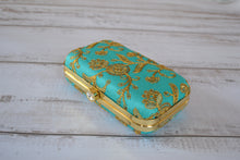 Load image into Gallery viewer, Pill Box Clutch Bag - Teal