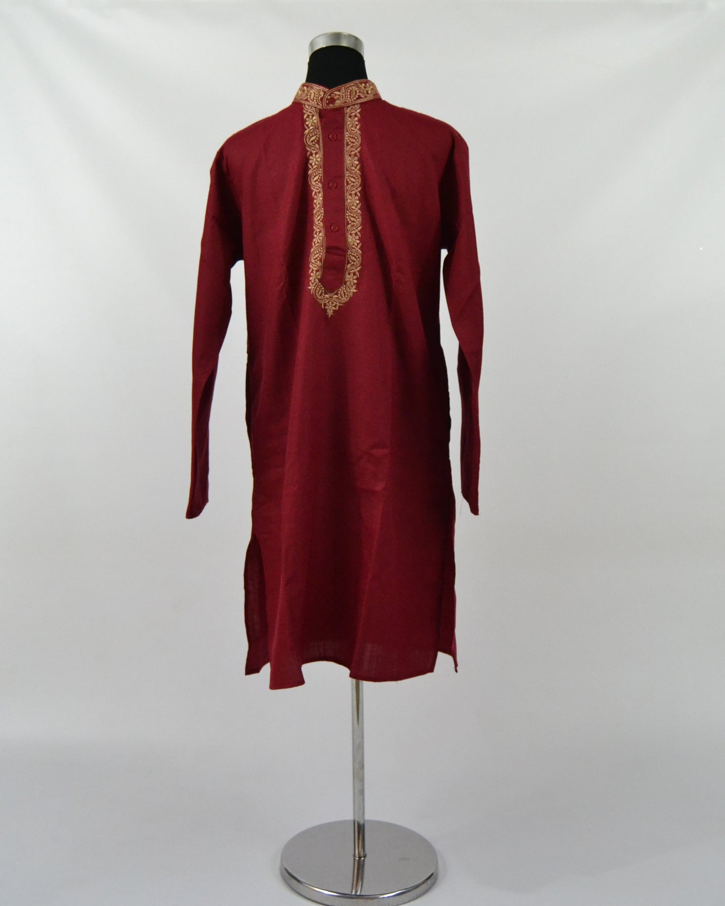 Mens Cotton Kurta & Pants Sets - Maroon