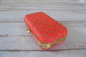Pill Box Clutch Bag - Pink