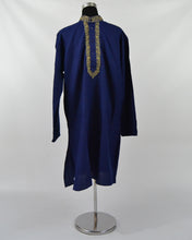 Load image into Gallery viewer, Mens Cotton Kurta & Pants Sets - Navy Blue