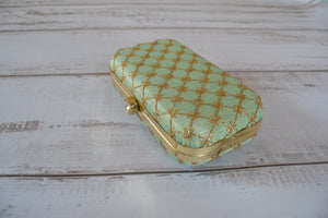 Pill Box Clutch Bag - Lime
