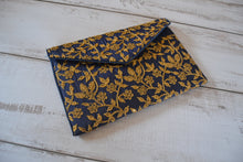 Load image into Gallery viewer, Saree Clutch Bag - Navy Blue