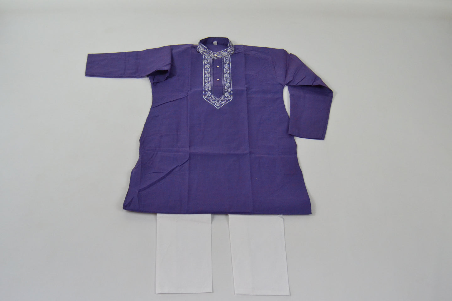 Boys Cotton Kurta & Pants Sets - Blue