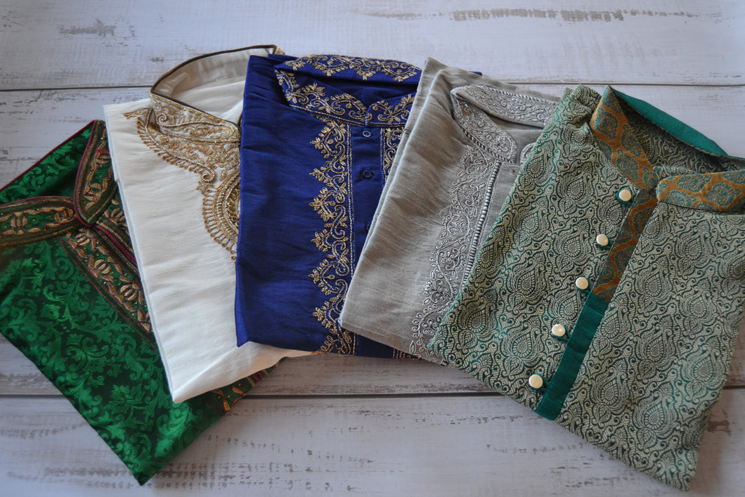 Men's Embroidered Kurtas