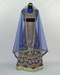 Navy Blue/Gold Lengha