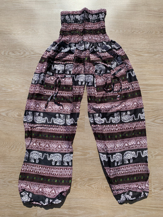 Aladdin Pants Black & Maroon