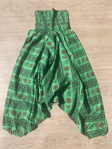 Harem Pants Green & Black