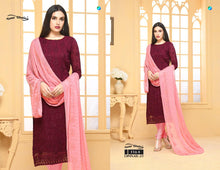 Load image into Gallery viewer, Dinnar Collection Punjabi - Maroon and Pink