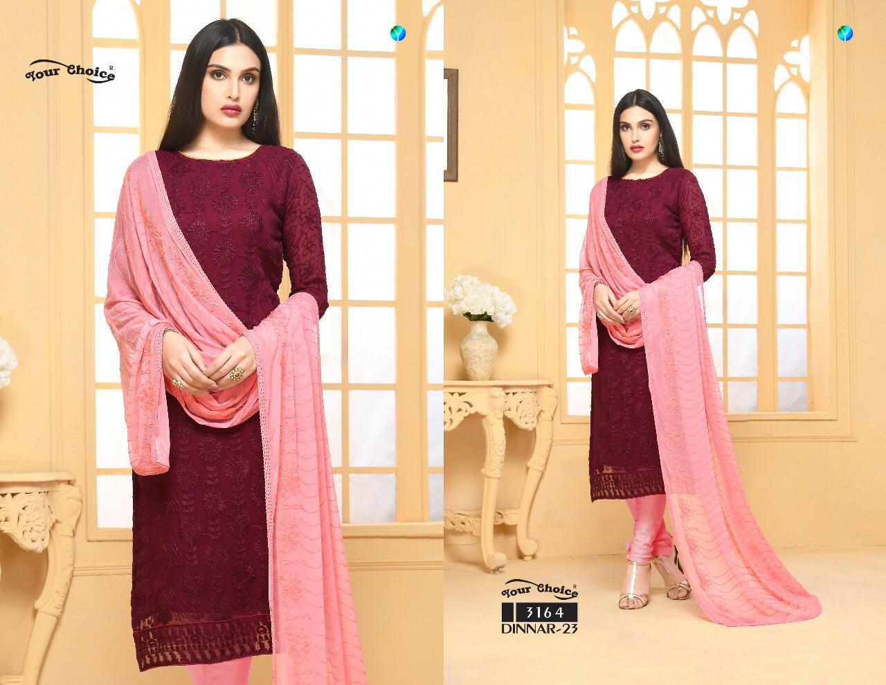 Dinnar Collection Punjabi - Maroon and Pink