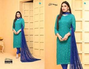 Dinnar Collection Punjabi - Teal and Blue