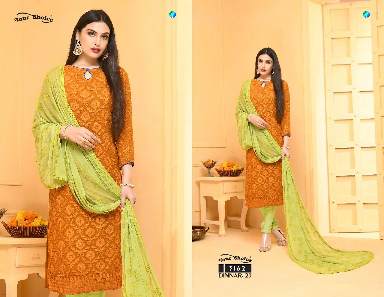 Dinnar Collection Punjabi - Mustard and Lime