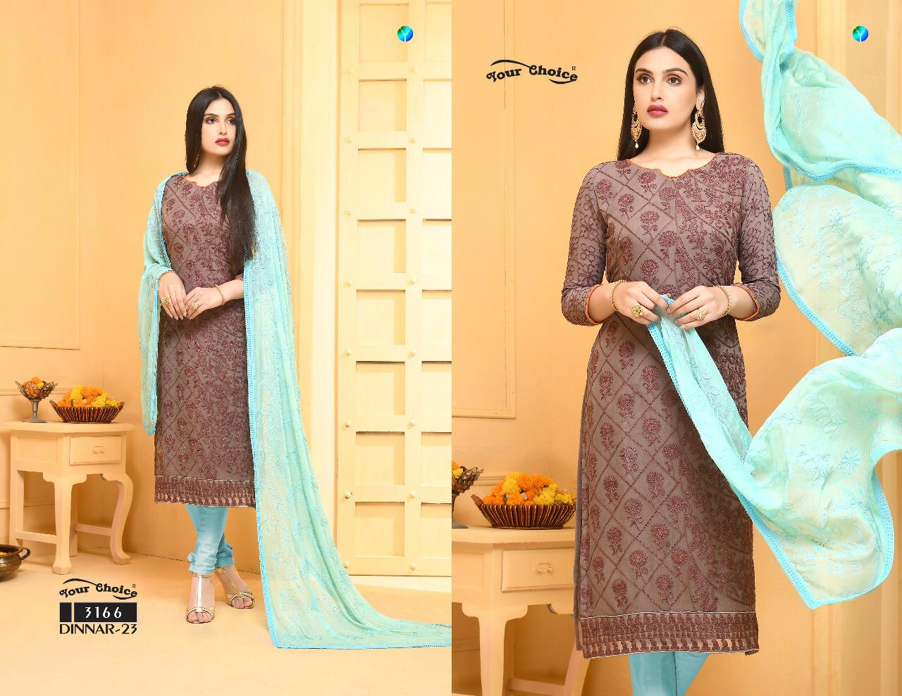Dinnar Collection Punjabi - Mink and  Baby Blue