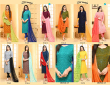 Load image into Gallery viewer, Dinnar Collection Punjabi - Olive Green and Orange