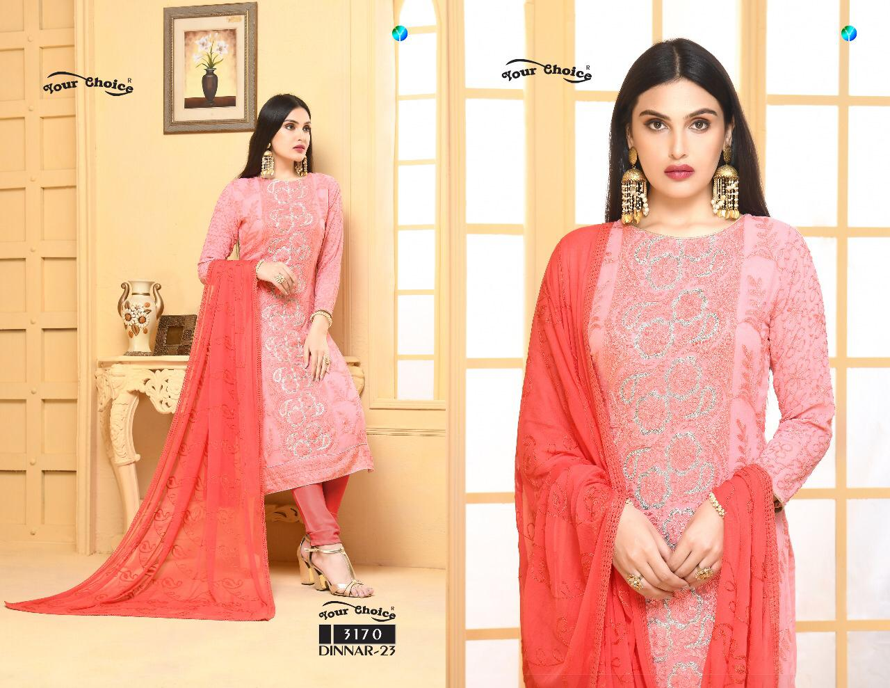 Dinnar Collection Punjabi - Pink and Salmon