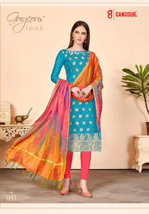 Gangour Collection Everyday Punjabi - Blue and Salmon