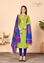Load image into Gallery viewer, Gangour Collection Everyday Punjabi - Lime and Blue
