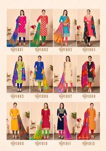Gangour Collection Everyday Punjabi - Lime and Blue