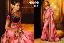 Load image into Gallery viewer, Rangoli Silk Saree - Pink