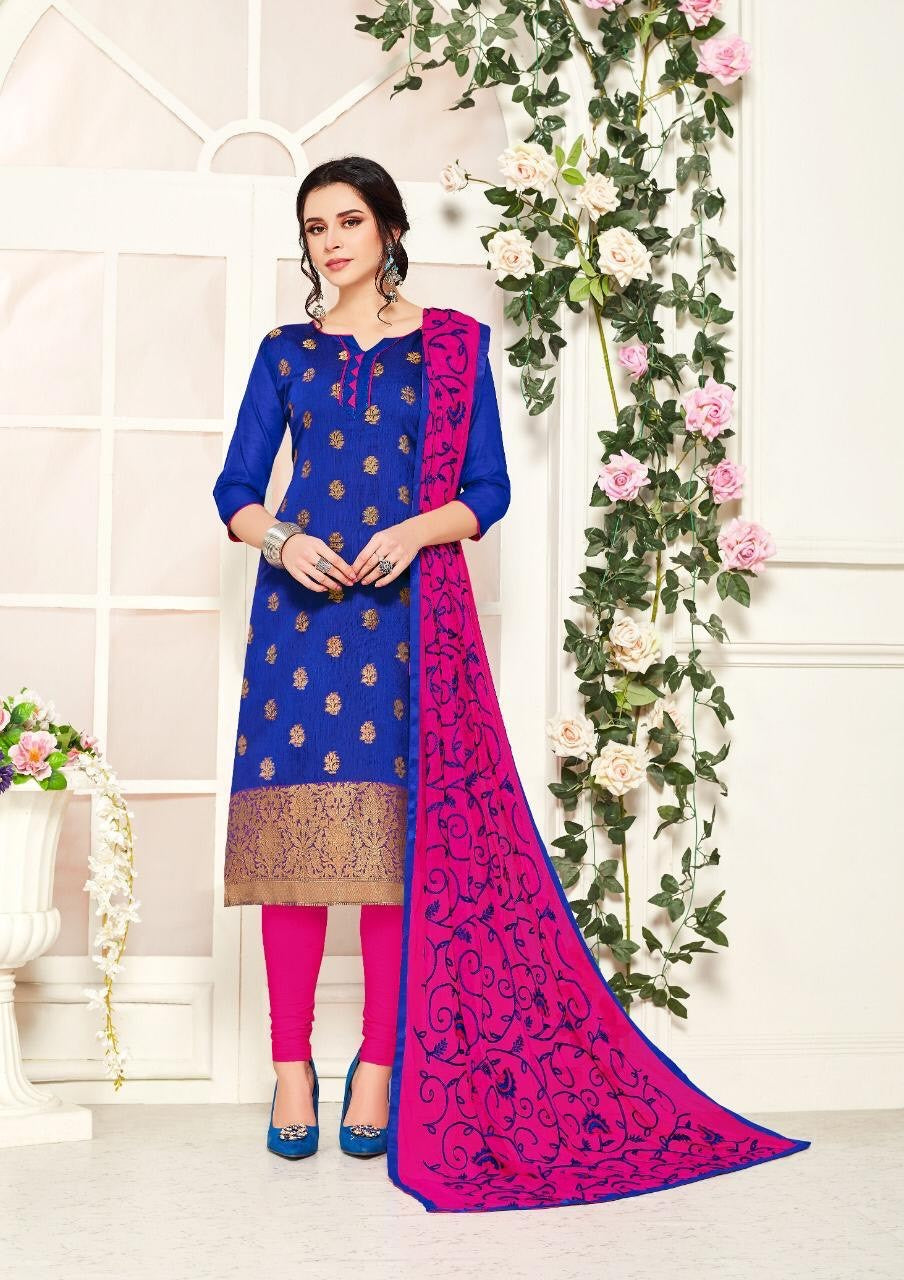 Gangour Collection Everyday Punjabi - Blue/Pink