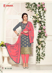 Gangour Collection Everyday Punjabi - Grey/Salmon