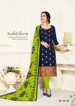 Load image into Gallery viewer, Gangour Collection Everyday Punjabi - Navy Blue/Green