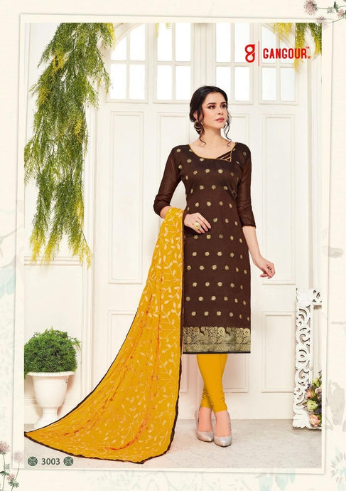 Gangour Collection Everyday Punjabi - Brown/Mustard
