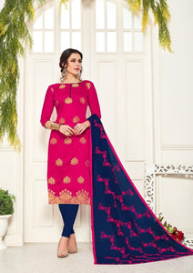 Gangour Collection Everyday Punjabi - Pink/Navy Blue