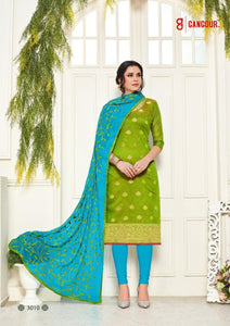 Gangour Collection Everyday Punjabi - Green/Blue